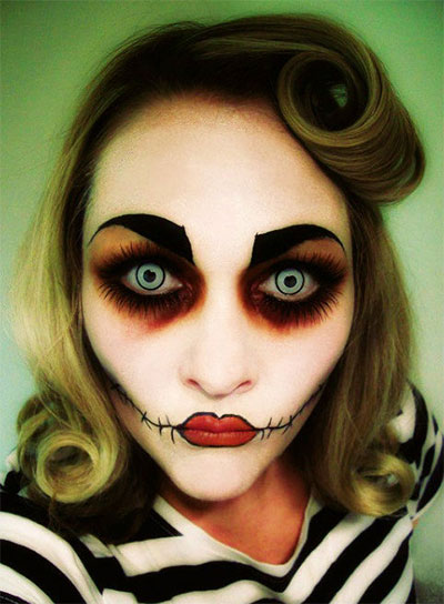 Amazing Yet Scary Halloween Make Up Ideas &amp looks For - Ladies Halloween Make Up