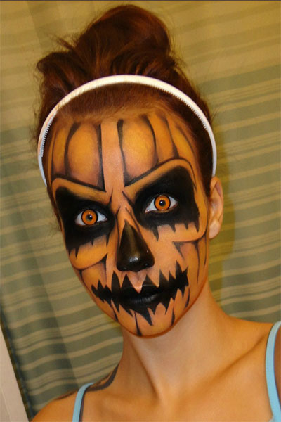 Gallery For &gt Scary Halloween Face Paint Ideas - Amazing Halloween Face Paint