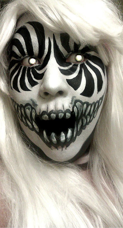 Amazing Yet Scary Halloween Make Up Ideas &amp looks For - Amazing Halloween Makeup