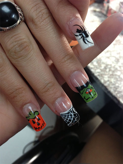 halloween nail art designs yet scary halloween nail art designs ideas ...