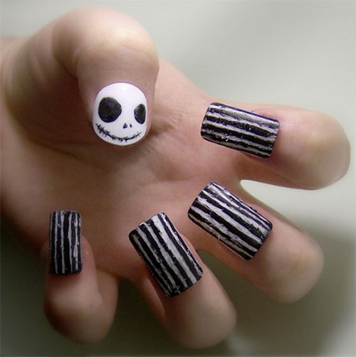 Awesome Yet Scary Halloween Nail Art Designs & Ideas 2013/ 2014