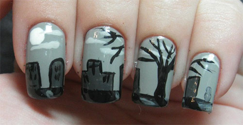 Best Scary Nail Art Designs Ideas Pictures 2013 2014 14 Best & Scary Halloween Nail Art Designs, Ideas & Pictures 2013/ 2014