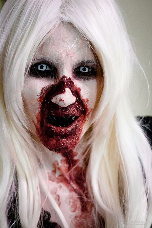 Gallery For &gt Scary Makeup For Halloween Easy - Easy Creepy Makeup