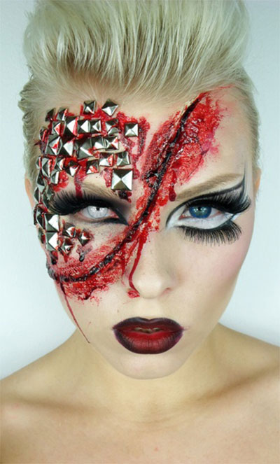 Cool Yet Scary Halloween Make Up Ideas &amp Looks For Girls - Cool Makeup Ideas