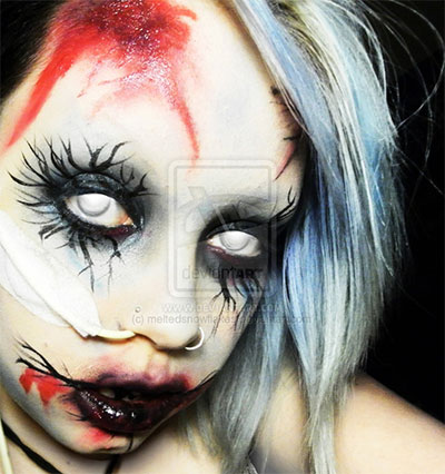 Cool Yet Scary Halloween Make Up Ideas &amp Looks For Girls - Cool Halloween Makeup For Girls