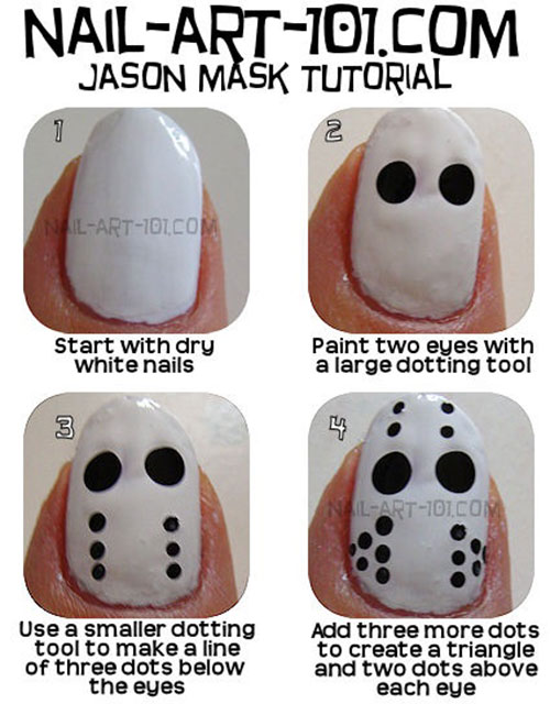 Simple, Easy & Scary Halloween Nail Art Tutorials 2013 For ...