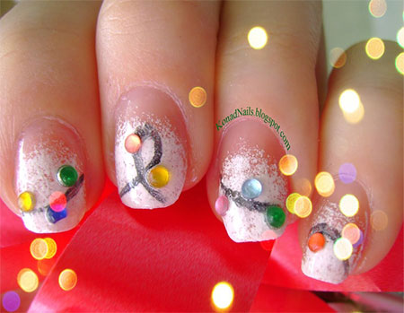 Christmas Light Nail Art Designs Ideas 2013 2014 X mas Nails 10 Christmas Light Nail Art Designs & Ideas 2013/ 2014 | X mas Nails