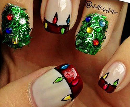 Christmas Light Nail Art Designs Ideas 2013 2014 X mas Nails 5 Christmas Light Nail Art Designs & Ideas 2013/ 2014 | X mas Nails