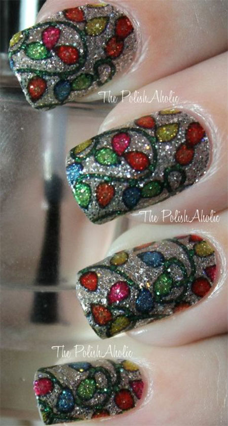 Christmas Light Nail Art Designs Ideas 2013 2014 X mas Nails 9 Christmas Light Nail Art Designs & Ideas 2013/ 2014 | X mas Nails