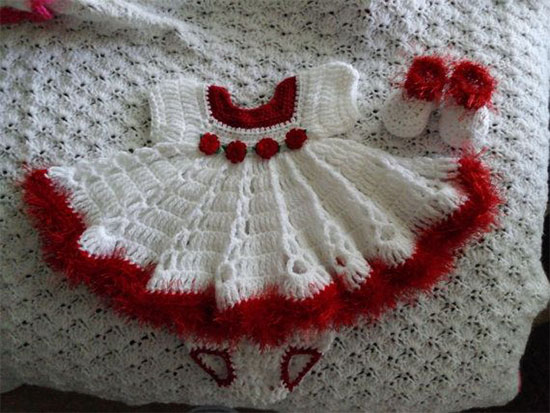 Creative Christmas Costumes For Kids & Babies 2013/ 2014 . - Free Crochet Pattern For Baby Christmas Dress ~ Legite.info For .