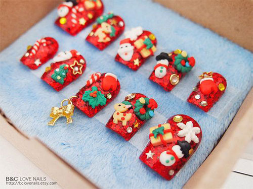 Cute Easy Christmas Nail Art Designs Ideas 2013 2014 11 Cute & Easy Christmas Nail Art Designs & Ideas 2013/ 2014
