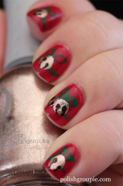 Cute Easy Christmas Nail Art Designs Ideas 2013 2014 14 Cute & Easy Christmas Nail Art Designs & Ideas 2013/ 2014