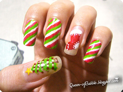 Cute Easy Christmas Nail Art Designs Ideas 2013 2014 3 Cute & Easy Christmas Nail Art Designs & Ideas 2013/ 2014