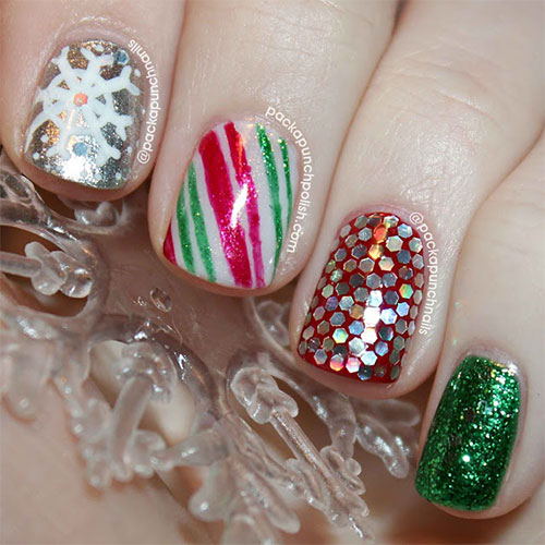 Cute Easy Christmas Nail Art Designs Ideas 2013 2014 8 Cute & Easy Christmas Nail Art Designs & Ideas 2013/ 2014