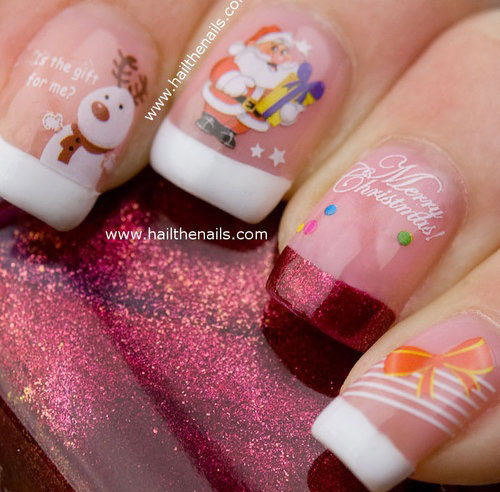 Cute Easy Christmas Nail Art Designs Ideas 2013 2014 9 Cute & Easy Christmas Nail Art Designs & Ideas 2013/ 2014