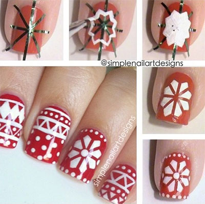 Easy Christmas Nail Art Tutorials 2013/ 2014  X mas Nails  Girlshue