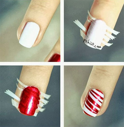 Easy christmas nail art designs tutorial best nails 2018 s hair nail style shue easy christmas prinsesfo Image collections