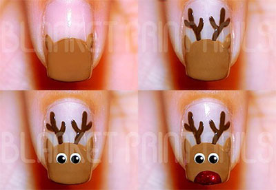 easy christmas nails for beginners