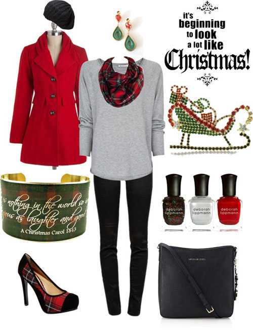 Christmas party outfits 2013 2014 polyvore xmas costumes ideas 1