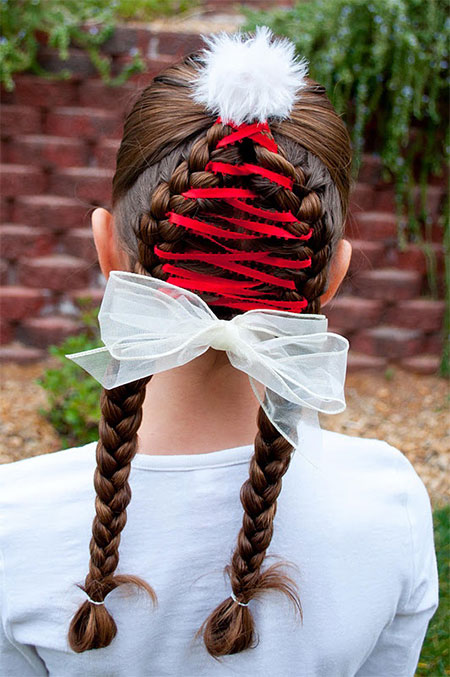 Hairstyles 3 Cute Christmas Hairstyle Ideas For Kids Girls 2013