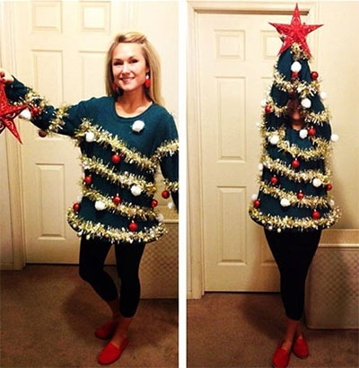 Ugly sweater christmas tree