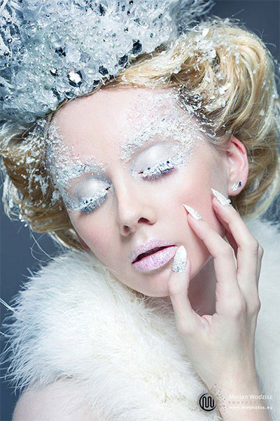 Ice Princess Frozen Winter Make Up Ideas Looks 2013 2014 9 Amazing Ice    Ice Princess Halloween Makeup
