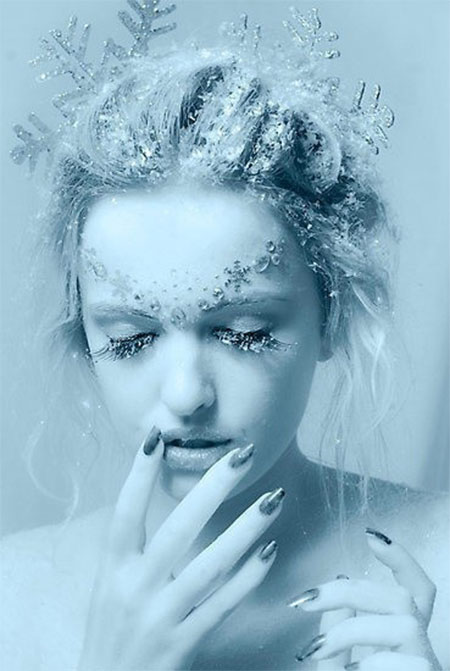 Best Ice Princess White Fairy Winter Make Up Ideas Looks 2013 2014 3    Ice Princess Halloween Makeup