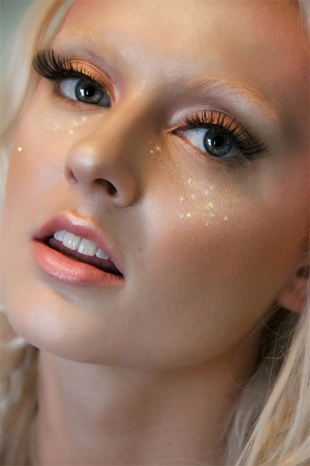 Pink fairy eye makeup