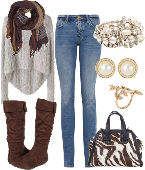 Creative Boots And Leggings Are Perfect Together And This Is A Great Look For
