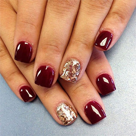 Beautiful Happy New Year Nail Art Designs Ideas 2014