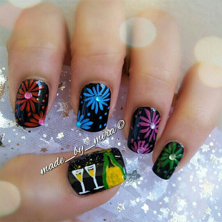 New Year Nail Art Designs Ideas 2014 2015 12 Happy New Year Nail Art