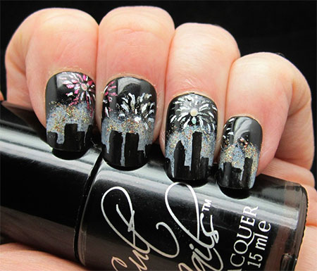 Happy New Year Nail Art Designs And Idea 2015httpnails Side