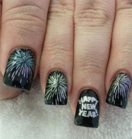 Happy new year nail art designs and idea 2015httpnails side happy new year nail art designs ideas 2014 2015 2 happy new year nail art designs prinsesfo Images